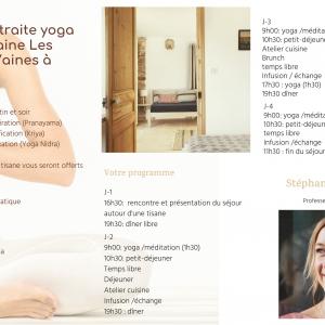 Retraite Yoga & Alimentation Consciente 2021 – Les Petites Vaines